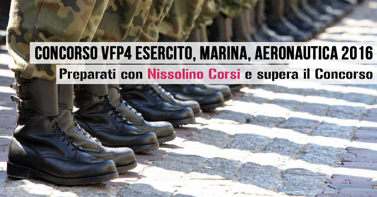 Concorso VFP4 2016 Interforze