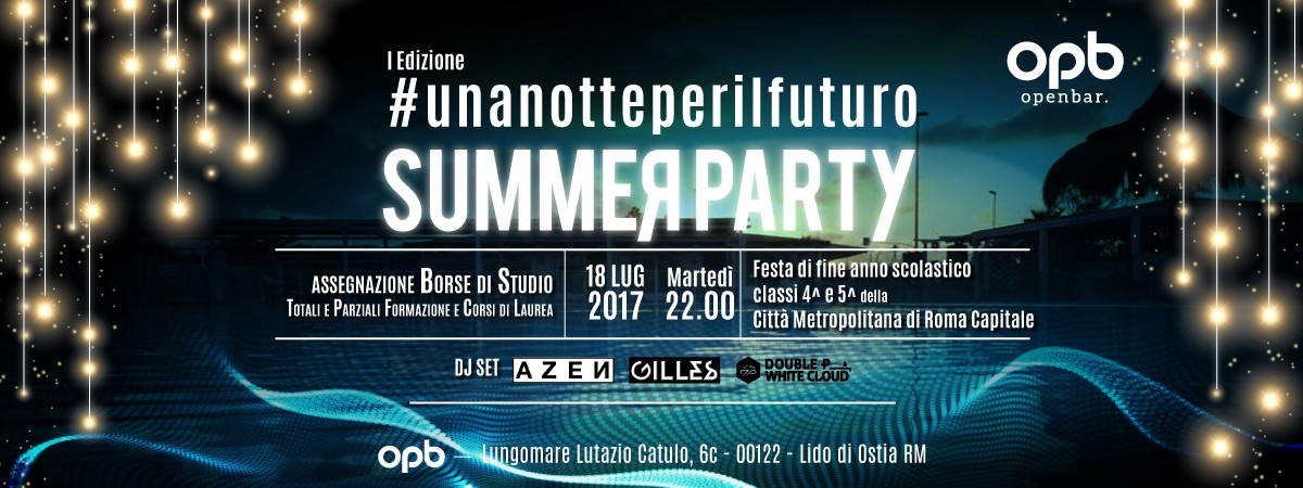 Una notte per il futuro Summer Party