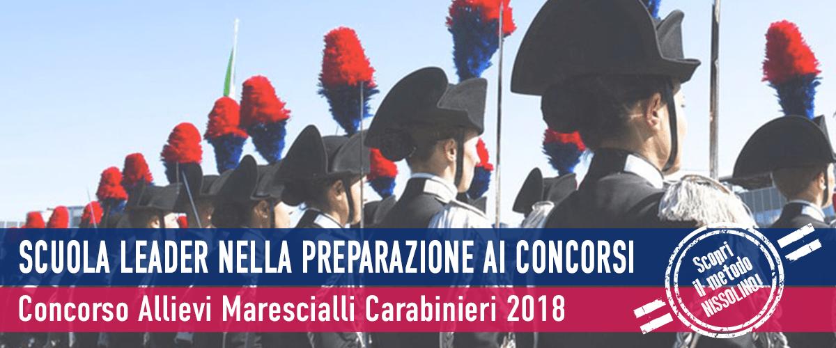 Prossimo Concorso Maresciallo Carabinieri 2018-2021