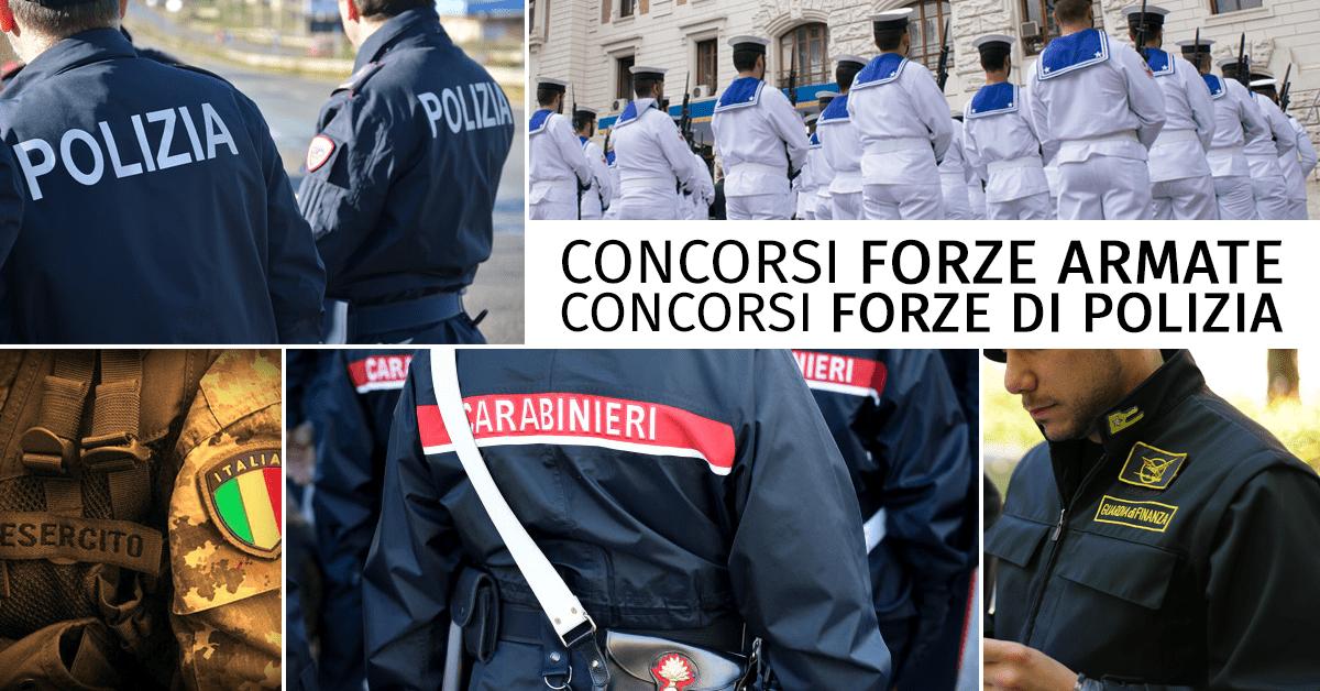 Concorsi Forze Armate e Concorsi Forze di Polizia 2018