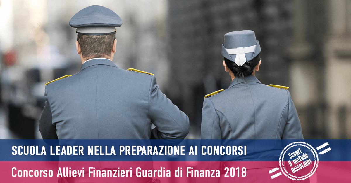 Concorso 380 Allievi Finanzieri 2018 (Aperto ai Civili) Calendario Prova Scritta