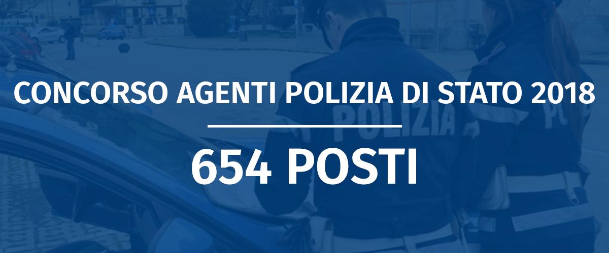 Concorso 654 Allievi Agenti Polizia di Stato 2018