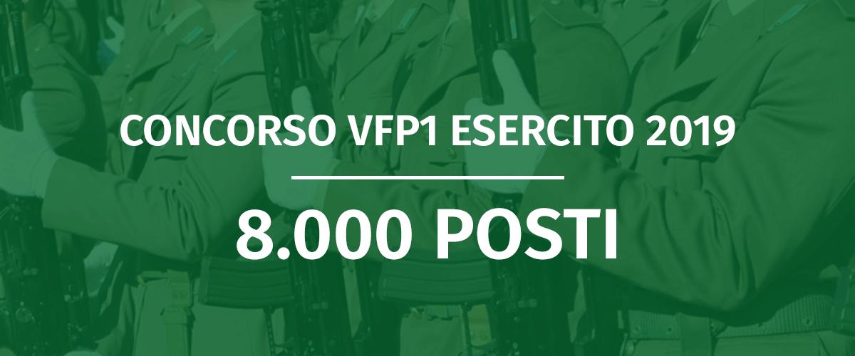 Concorso VFP1 Esercito 2019 (1° Blocco) - Elenco Convocati Prove Fisiche e Accertamenti