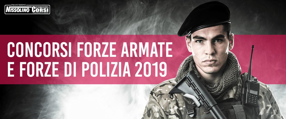 Concorsi Forze Armate e Concorsi Forze di Polizia 2019