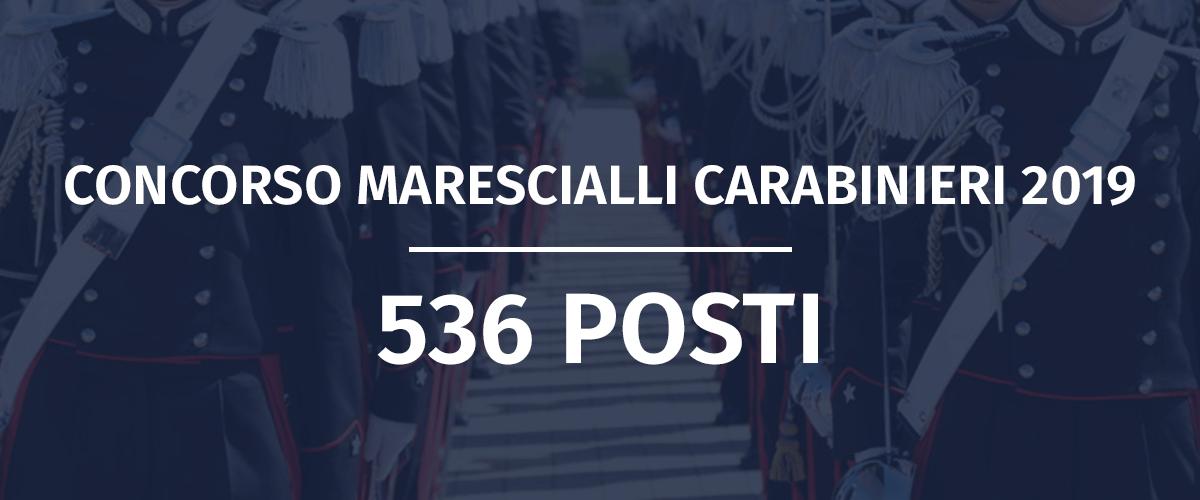 Concorso 536 Allievi Marescialli Carabinieri 2019-2022