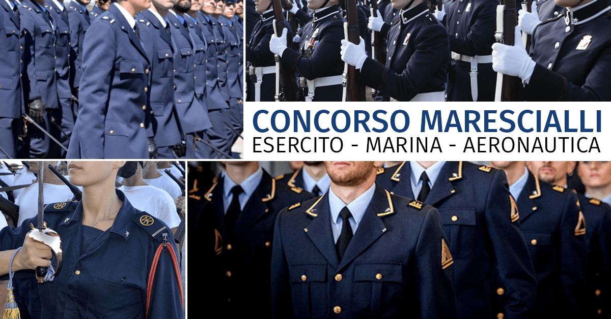 Concorso Allievi Marescialli 2020 (Esercito, Marina, Aeronautica) - Avviso Svolgimento Prove Scritte