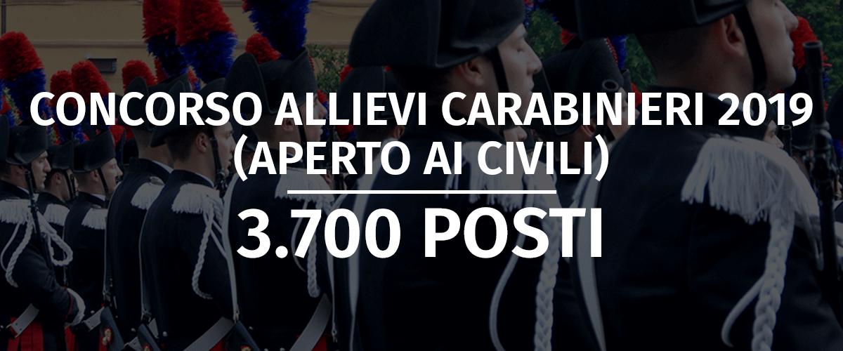 Concorso 3.700 Allievi Carabinieri 2019 (Aperto ai Civili)