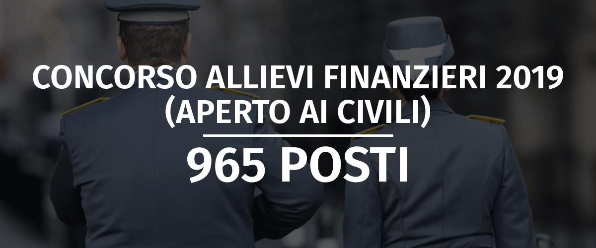 Concorso 965 Allievi Finanzieri 2019 (Aperto ai Civili) - Bando e Banca Dati