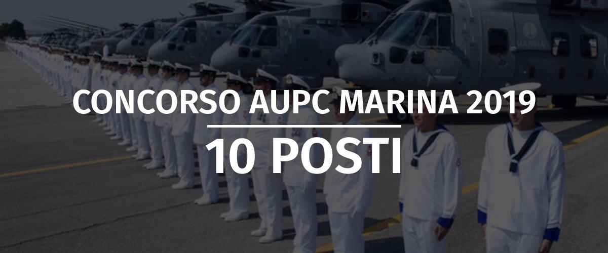 Concorso 10 AUPC Marina Militare 2019