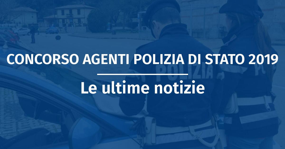 Prossimo Concorso Allievi Agenti Polizia di Stato 2019