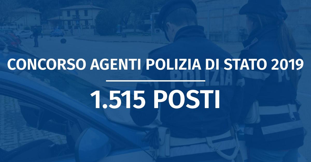 Concorso 1.515 Allievi Agenti Polizia di Stato 2019 (Riservato VFP1 e VFP4) - Banca Dati e Diario Prova Scritta