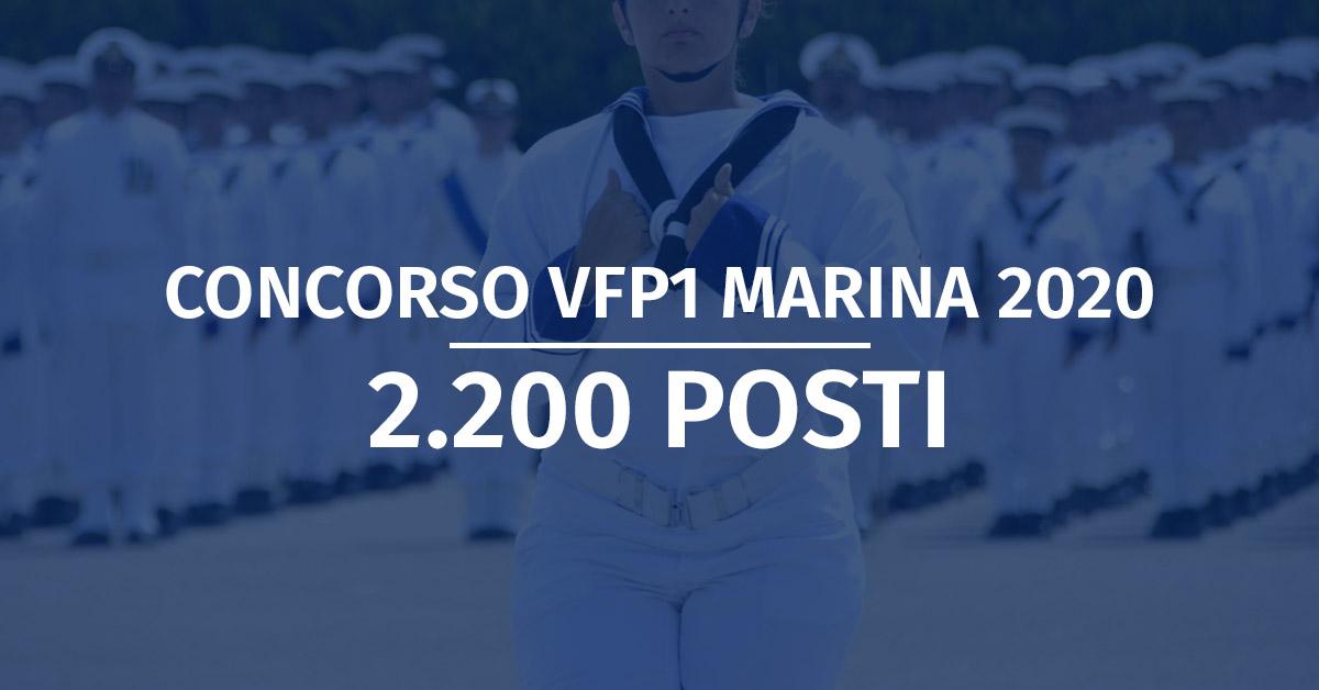 Concorso VFP1 Marina Militare 2020 (1° Blocco) - Elenchi Convocati 1° Incorporamento
