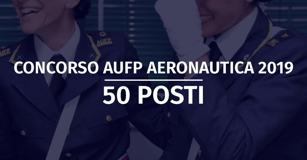 Concorso 50 AUFP Aeronautica 2019