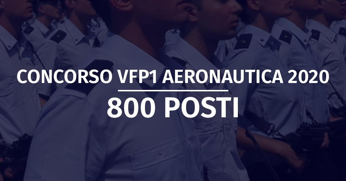 Concorso 800 VFP1 Aeronautica 2020 - Elenchi Convocati Accertamenti e Prove Fisiche + Graduatorie Titoli