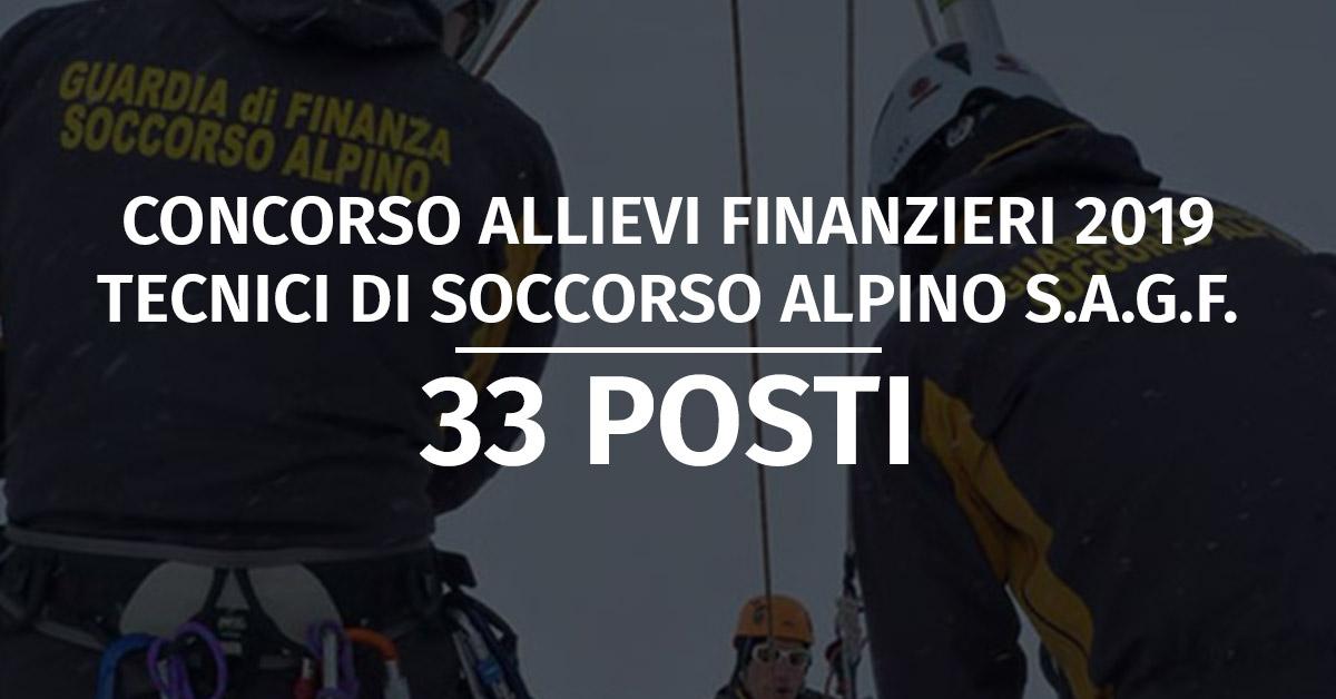 Concorso 33 Allievi Finanzieri Specializzazione Tecnico di Soccorso Alpino 2019