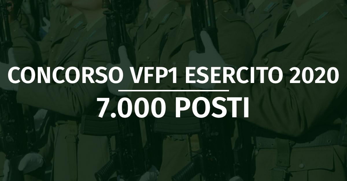 Concorso 7.000 VFP1 Esercito 2020
