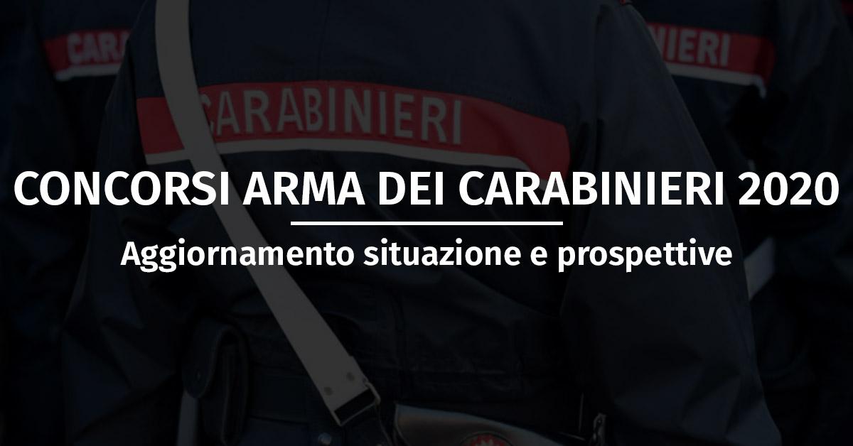 Concorsi Arma dei Carabinieri 2020 - Aggiornamento