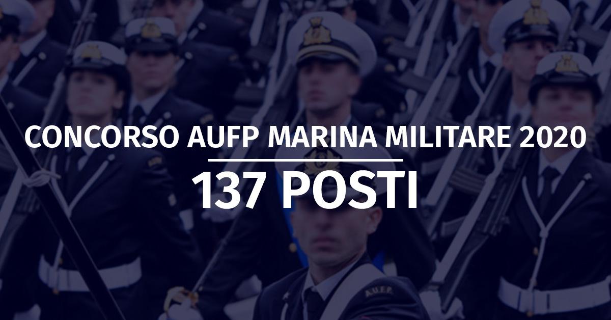 Concorso 137 AUFP Marina Militare 2020 - Modifica Bando