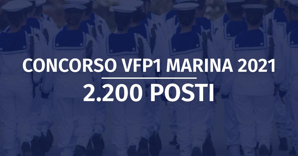 Concorso 2.200 VFP1 Marina Militare 2021