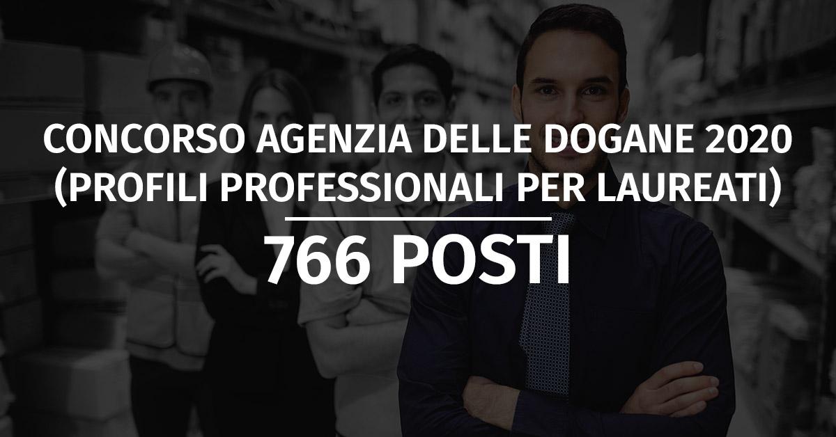 Concorso Agenzia delle Dogane 2020 (766 posti)