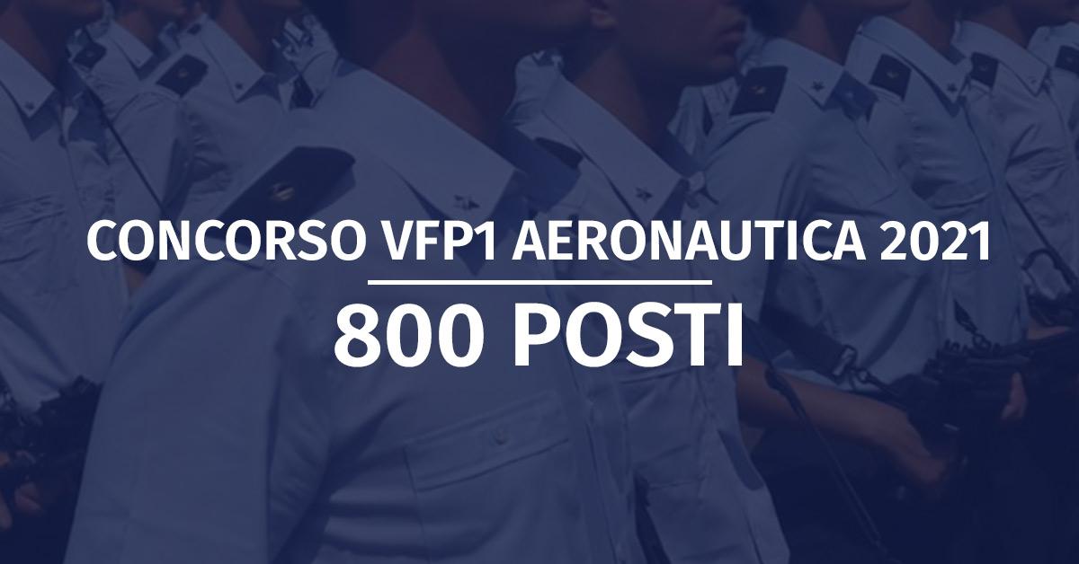 Concorso 800 VFP1 Aeronautica 2021