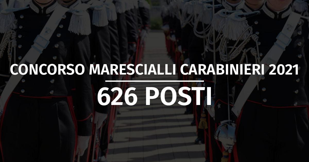 Concorso 626 Allievi Marescialli Carabinieri 2021 - Calendario Prova Preliminare