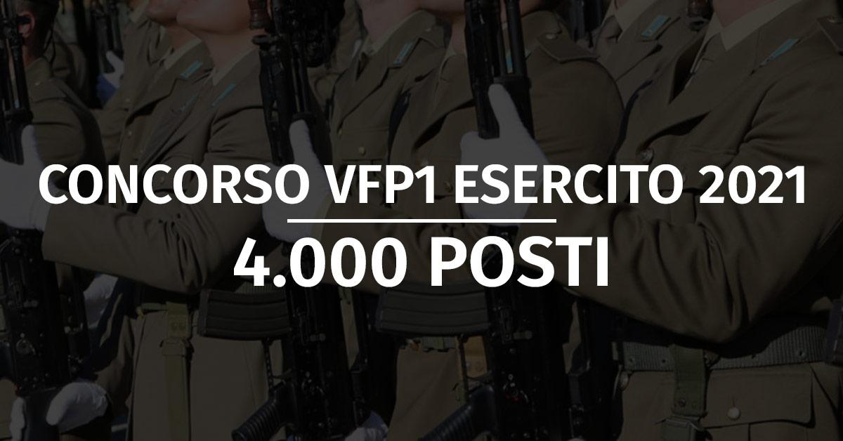 Concorso VFP1 Esercito 2021 - Revoca Bando