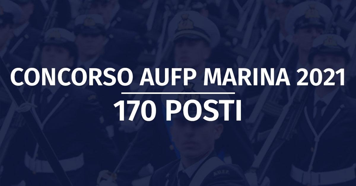 Concorso 170 AUFP Marina Militare 2021