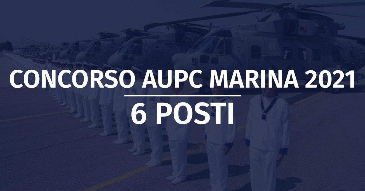 Concorso 6 AUPC Marina Militare 2021