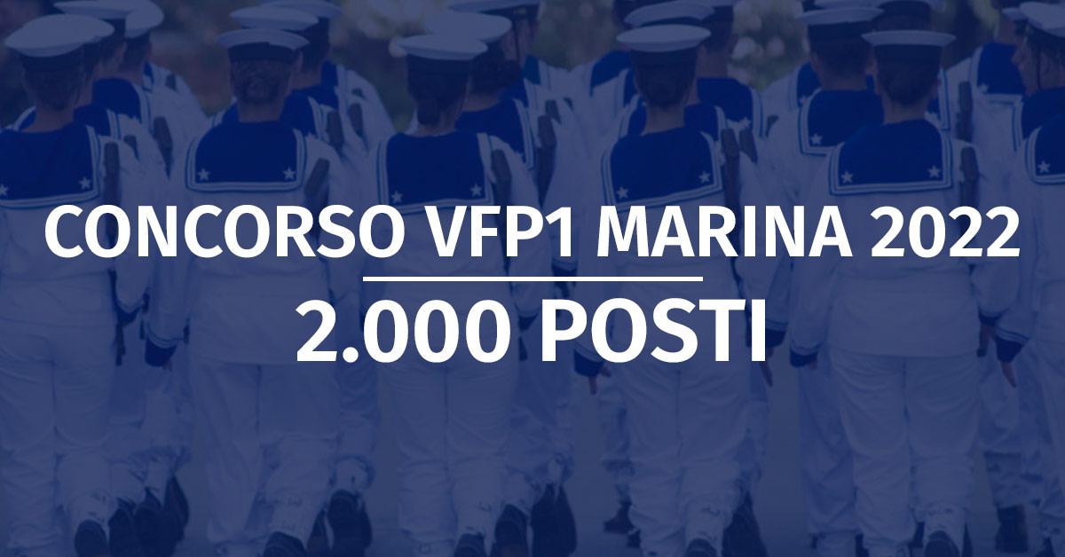 Concorso 2.000 VFP1 Marina Militare 2022 - Graduatorie Provvisorie