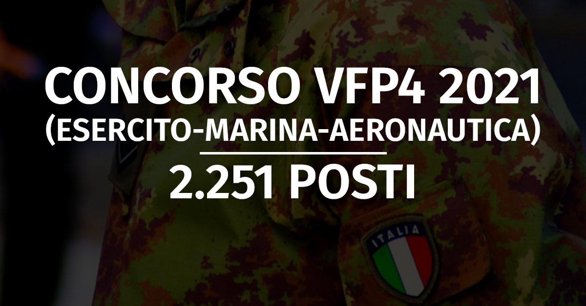 Concorso 2.251 VFP4 2021 (Esercito, Marina, Aeronautica)